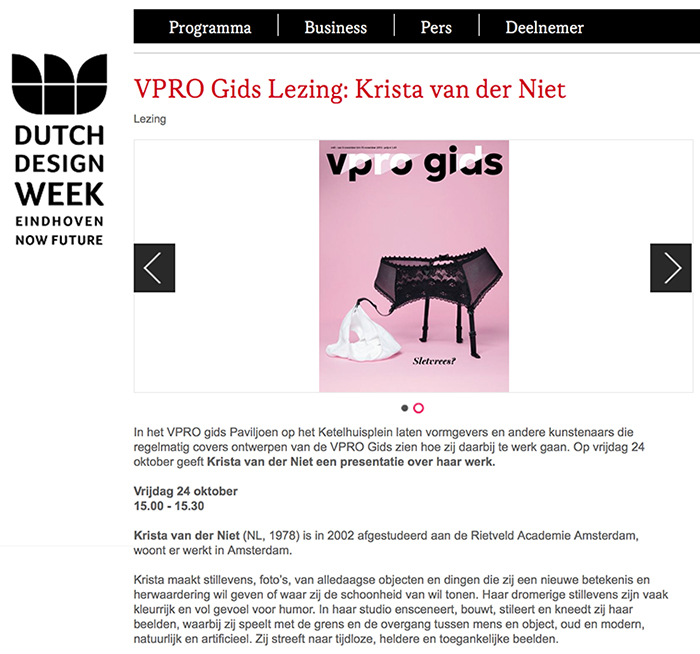 Dutch Design Week-lecturer!